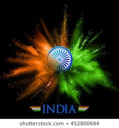 illustration of India background in tricolor and Ashoka Chakra with powder color explosion Essay On Independence Day, Happy Independence Day Images, Independence Day Wallpaper, Independence Day Wishes, 15 August Independence Day, Independence Day Background, Indian Independence Day, Republic Day Images Hd, Indian Flag Photos