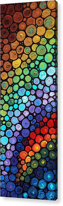 #colorfulart #mosaic Eternal Hope Acrylic Print by Sharon Cummings.  All acrylic prints are professionally printed, packaged, and shipped within 3 - 4 business days and delivered ready-to-hang on your wall. Choose from multiple sizes and mounting options.