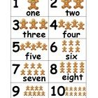 Gingerbread Count Cards help students identify and count numbers 1-10 using digits and number words. Also, gingerbread pictures visually aid studen...