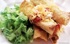 Skinny Chicken Taquitos are only 221 calories per serving. This recipe is super crunchy & yummy. Skinny Taquitos are our family's favorite football game food. #lowcalorierecipes
