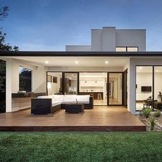 Camberwell House Homes Photo by Modern House Floor Plans, Modern House Facades, Modern House Design, Architecture Design, Modern Architecture House, Bungalow Haus Design, Modern Minimalist House, Architectural House Plans, Prefabricated Houses