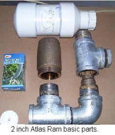Internal check valve ram pump