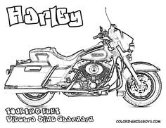 Harley Davidson Coloring Pages for Kids. Can you handle free motorcycle coloring? Is your coloring tuff enough for Harley coloring? Free coloring of Harley V-Rod Muscle, Road King. Harley Davidson Tattoos, Harley Davidson Logo, Harley Davidson Motorcycles, Harley Davidson Engines, Harley Davidson Dealers, Coloring Pages For Kids, Coloring Sheets, Coloring Books, Free Coloring
