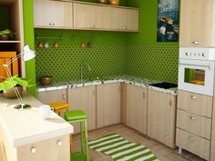 Küche Wandfarbe  Grüne Wandfarbe