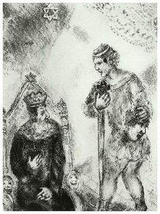 David before Saul, Marc Chagall