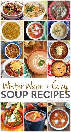 Winter Warm + Cozy Soup Recipes