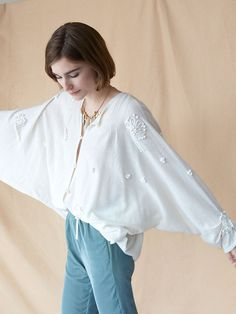 20´s embroidered beads cardigan