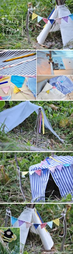 Fairy Tent Tutorial by Imagine Childhood <3 http://blog.imaginechildhood.com/imagine-childhood/2013/06/-fairies-love-camping.html
