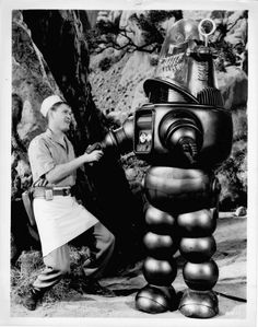 Earl Holliman and Robbie the Robot - Forbidden Planet
