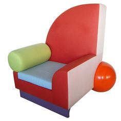 """""""Bel Air"""" Chair by Peter Shire for Memphis. Italy, 1981. http://www.1stdibs.com/furniture_item_detail.php?id=599008"""