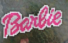 Barbie logo perler beads by ZombieLolitaPrincess