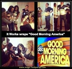 It Works Global reps wrap Good Morning America.  body wraps, spa treatment,ultimate body applicator,  https.