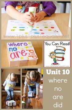 You Can Read Sight Words Unit 10 ~ Homeschool Kindergarten in action!