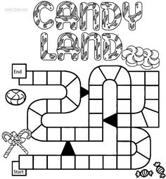 Candyland Character Page Coloring Sheets Candyland Coloring