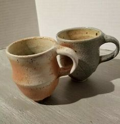 Studio Pottery Cappuccino Espresso Cups Blue And Pink Espresso Cups, Espresso Coffee, Pottery Mugs, Pottery Bowls, Latte Coffee Maker, Dessert Cups, Cup And Saucer Set, Tea Cups