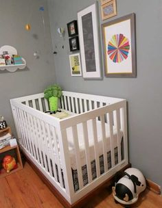 Name: Søren (4 months) Location: Chicago, IL (Logan Square) We started on Søren's room before anyone knew his sex, so we kept it very gender-neutral. The gray and yellow nursery has certainly been done, but we put our own spin on it with the concept of weather.