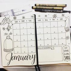 #bulletjournal #january #januarymonthly #prettyplanner #prettybujo #bujo