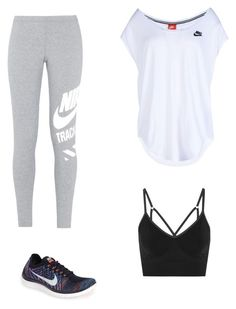 """""""Untitled #338"""" by carolinamcury ❤ liked on Polyvore featuring NIKE, women's clothing, women, female, woman, misses and juniors"""