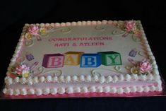 baby shower ideas   Baby Shower Sheet Cake Ideas for Girls