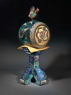 Attributed to Kodenji Hayashi (Japanese, Nagoya 1831–1915). O-daiko, ca. 1873. Wood, metal, cloisonné, hide, silk, padding. The Metropolitan Museum of Art, New York. The Crosby Brown Collection of Musical Instruments, 1889 (89.4.1236). #MetMusic