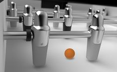 Foosball Table for Toulet by Adrien Lefebvre » Yanko Design
