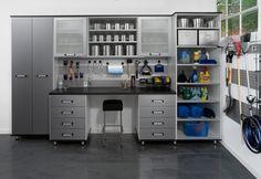 Garage Organization Ideas Cabinet BEST HOUSE DESIGN : Garage storage garage organization ideas - Storage And Organization Garage Organization Tips, Garage Storage Shelves, Garage Storage Solutions, Diy Storage, Storage Ideas, Workshop Organization, Open Shelves, Cube Storage, Storage Room