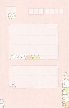 San-X Summiko Gurashi Letter Set Memo Template, Notes Template, Cute Wallpaper Backgrounds, Cute Cartoon Wallpapers, Memo Notepad, Printable Scrapbook Paper, Kawaii Doodles, Cute Notebooks, Aesthetic Template