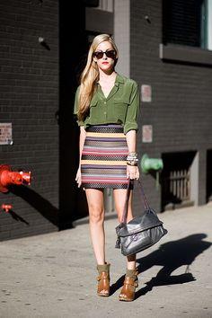 Beautiful (and unforgiving) skirt.  Workout inspiration.