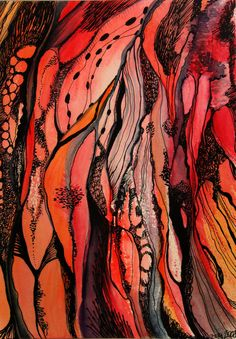 Flowers 2 l©2008-2013 zzen watercolour on paper, 2008 17 x 24 cm, 300 g/m