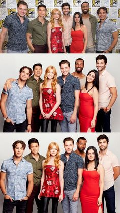 Shadowhunters Cast at 2017 San Diego Comic Con Clary E Jace, Clary Fray, Shadowhunters Series, Shadowhunters The Mortal Instruments, Matthew Daddario, Isabelle Lightwood, Dominic Sherwood, Cassandra Clare Books, Clace