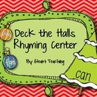 This is a holiday rhyming activity that can be added to your centers!  Your students will practice blending sounds by reading the CVC words on the trees and ornaments.  They will decorate the trees with the ornaments by finding words that rhyme!    This activity is aligned with the Common Core State Standards:  -RF.K.2a : Recognize and produce rhyming words.  -RF.K.2d : Isolate and pronounce the initial, medial vowel, and final sounds (phonemes) in three-phoneme (consonant-vowel-consonant…