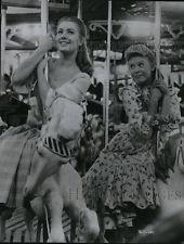 1956 Press Photo Shirley Jones and Barbara ruicj stars in Carousel.