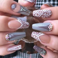 Gorgeous With Fall Nail Art Designs. Glam Nails, Fancy Nails, Beauty Nails, Fabulous Nails, Gorgeous Nails, Pretty Nails, New Year's Nails, Hot Nails, Nails 2016