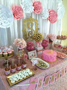 Pink and Gold Baby Shower Baby Shower Party Ideas | Photo 4 of 7 | Catch My Party