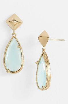 mint + gold earrings