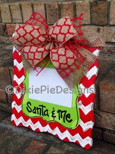 Christmas Picture Frame Santa and Me frame by dixiepiedesigns Christmas Picture Frames, Christmas Photo Booth, Christmas Pictures, Christmas Art, Christmas Projects, Handmade Christmas, Holiday Crafts, Christmas Holidays, Christmas Gifts