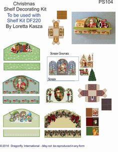 Borden für Regale Displays ua. Printies 4 Peg Shelf Decorator Sheets