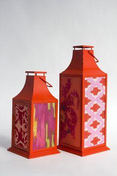 A DIY Fabric-Covered Lantern