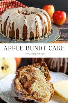Apple bundt cake that is moist and full of layers of apple and homemade spice cake for a yummy fall dessert! Fall Dessert Recipes, Fall Desserts, Cinnamon Drink, Homemade Spices, Spice Cake, Cake Flavors, Cake Ingredients, Cake Batter, Sweet Cakes