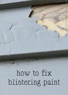 How to fix blistering paint - great tips!