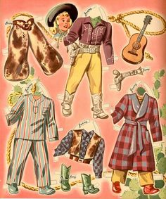 Ride a pony Paper Doll Clothes Judy and Jerry 6 of 10