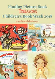 What are some wonderful children's picture books that suit the Australian Children's Book Week theme, Find Your Treasure?