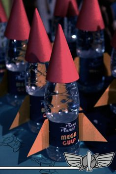 Rocket Water at a Toy Story Party.  See more party ideas at CatchMyParty.com! #toystory #partyideas