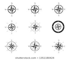 Similar Images, Stock Photos & Vectors of Vector antique compasses with ornate dials for use as design elements in vintage or retro nautical and marine concepts, black and white - 226258699 Mandala Compass Tattoo, Wind Rose, Symbol Logo, Design Elements, Royalty Free Stock Photos, Symbols, Compass Vector, Signs, Vectors