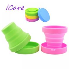 Sterilizer Menstrual Cup 1 Piece Soft Water Silicone Cups Retractable Folding Gargle Cup For Outdoor Travel Drinkware Tool.