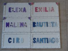 Carteles con nombre Galleries, Frames, Photo Wall, Bullet Journal, Deco, Toddler Table, Baby Things, Pintura, Cowboy Boot