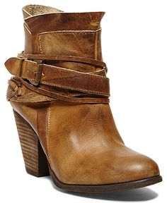 Cognac Buckle Booties