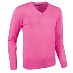 Glenmuir Ladies V Neck Cotton Golf SweaterHyacinthMedium -- Click on the image for additional details.