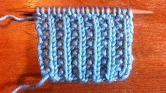 How to Knit the Farrow Rib Stitch--good stitch pattern for hats
