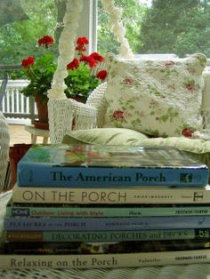 On The Porch - perfect for reading <3
